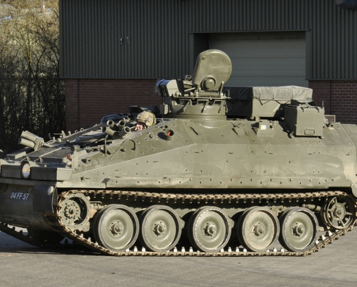 RDGs' armoured vehicles