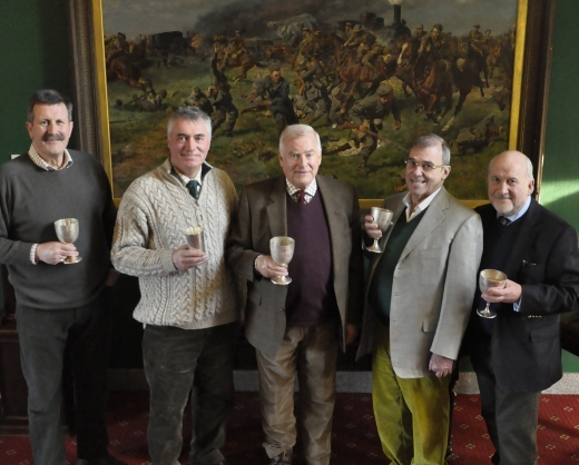 Pictured from left: Richard Charlesworth, Mark Leaning, the Master, Julian Leach and Martin Payne