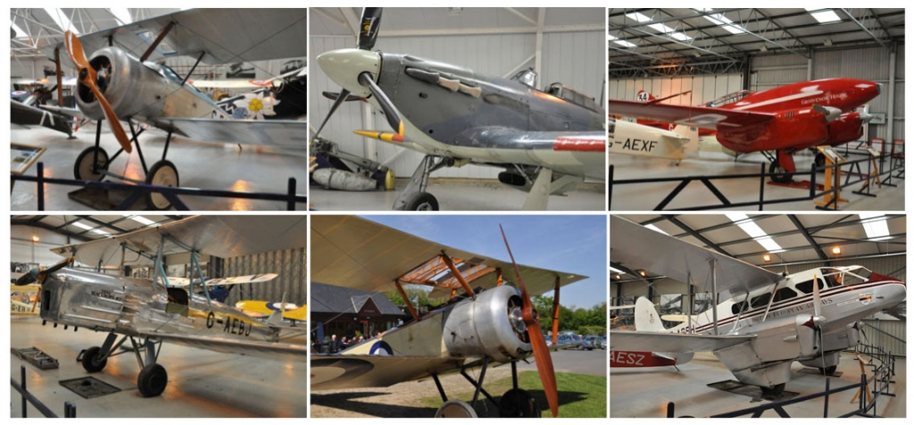 A montage of items from the Shuttleworth Collection