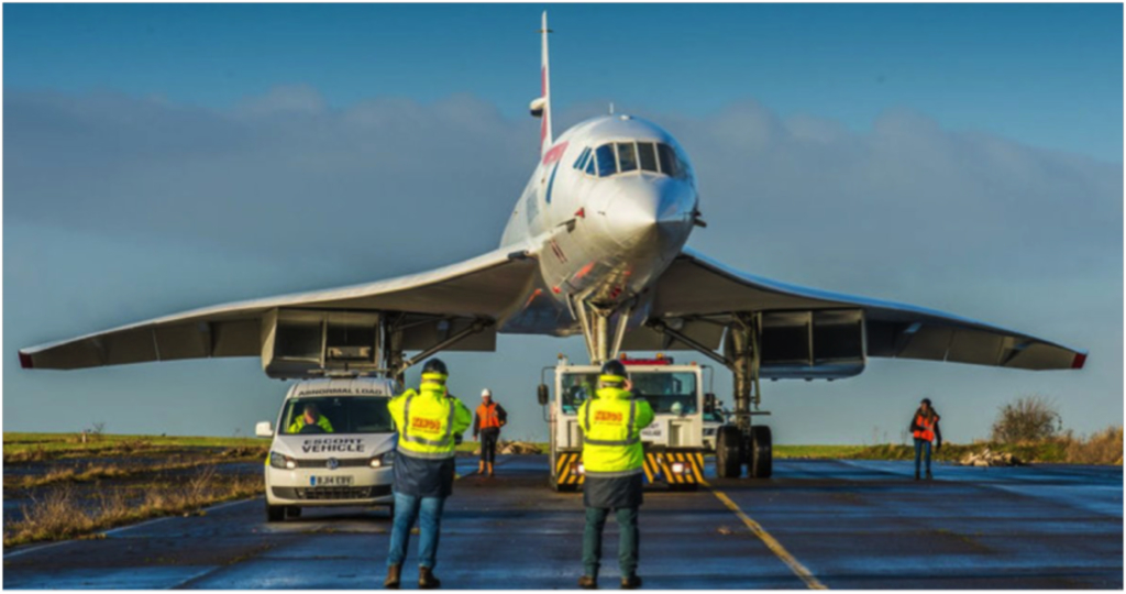 Concorde on its final journey