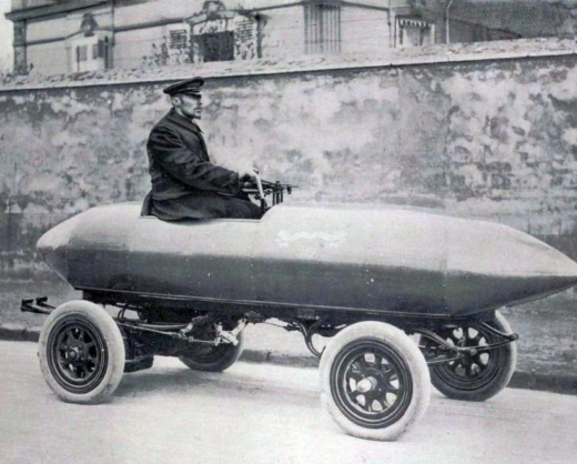 In 1899, Belgian race car driver Camille Jenatzy became the first man to break the 60mph land speed barrier in his torpedo-shaped, electric-powered La Jamais Contente