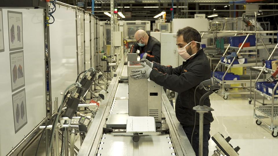 Vebtilators on the SEAT production line