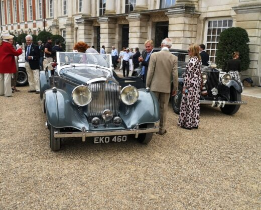 Prince Michael and his open Bentley