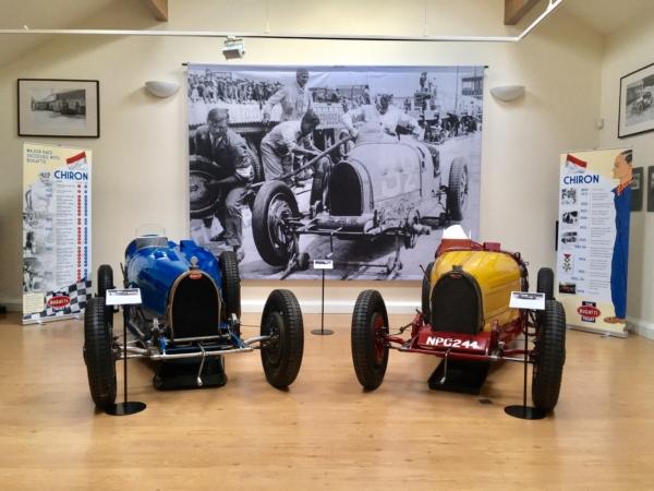 Classic Bugatti models at the museum